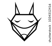 sketch tattoo outline of black... | Shutterstock .eps vector #1034312416