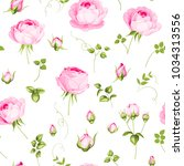 luxurious rose wallapaper in... | Shutterstock .eps vector #1034313556