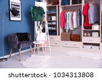 dressing room interior with big ... | Shutterstock . vector #1034313808
