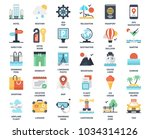 vector set of travel and... | Shutterstock .eps vector #1034314126