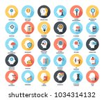 abstract vector set of colorful ... | Shutterstock .eps vector #1034314132