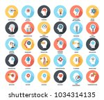 abstract vector set of colorful ... | Shutterstock .eps vector #1034314135