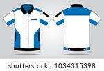 sport racing uniforms shirt... | Shutterstock .eps vector #1034315398