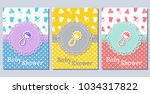 baby shower cards. cute...   Shutterstock .eps vector #1034317822