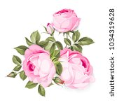 the blooming rose with couple... | Shutterstock .eps vector #1034319628