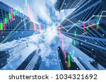 double exposure trading graph... | Shutterstock . vector #1034321692