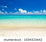 beach and tropical sea | Shutterstock . vector #1034323642