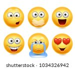 smiley face icons. funny faces... | Shutterstock .eps vector #1034326942