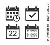 calendar icon. flat design....