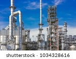 industrial zone the equipment... | Shutterstock . vector #1034328616
