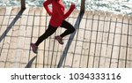 top view of sporty fitness... | Shutterstock . vector #1034333116