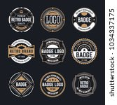 circle vintage and retro badge... | Shutterstock .eps vector #1034337175