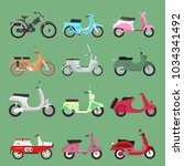 vector vintage retro bike... | Shutterstock .eps vector #1034341492
