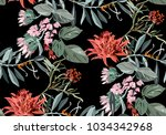 beautiful tropical pattern with ... | Shutterstock .eps vector #1034342968