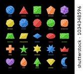 basic education flat geometry... | Shutterstock .eps vector #1034348596