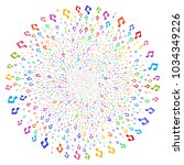 multi colored music notes swirl ... | Shutterstock .eps vector #1034349226
