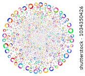multicolored pie chart twirl... | Shutterstock .eps vector #1034350426