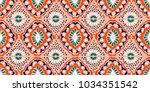 ikat geometric folklore... | Shutterstock .eps vector #1034351542