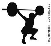 Muscular Man Weightlifter Doing ...
