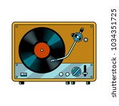 record player turntable device...   Shutterstock .eps vector #1034351725