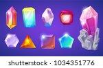 crystal stone vector... | Shutterstock .eps vector #1034351776