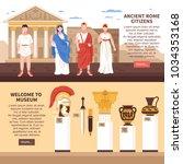 ancient rome 2 flat horizontal... | Shutterstock .eps vector #1034353168
