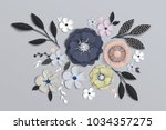 Stock vector flowers with realistic shadow to banner or promotions background with anemones can be used for a 1034357275