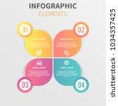 vector infographic design with... | Shutterstock .eps vector #1034357425