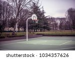 basketball playground in milan  ... | Shutterstock . vector #1034357626