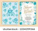 floral frame bridal shower... | Shutterstock .eps vector #1034359366
