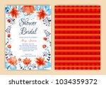 floral frame bridal shower... | Shutterstock .eps vector #1034359372