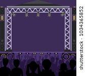concert stage scene vector...   Shutterstock .eps vector #1034365852