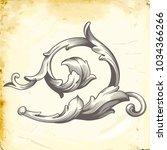 retro baroque decorations... | Shutterstock .eps vector #1034366266