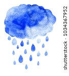 rain cloud precipitation with... | Shutterstock . vector #1034367952