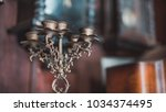 antique candle stand | Shutterstock . vector #1034374495