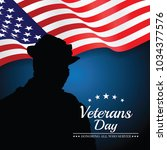 veterans day. vector... | Shutterstock .eps vector #1034377576