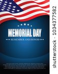 memorial day. remember and... | Shutterstock .eps vector #1034377582