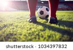 soccer or football player... | Shutterstock . vector #1034397832