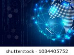 blue technology circle and... | Shutterstock .eps vector #1034405752