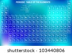 periodic table of the elements... | Shutterstock .eps vector #103440806
