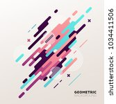 abstract geometric background.... | Shutterstock .eps vector #1034411506