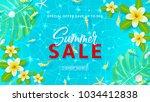 summer sale web banner template.... | Shutterstock .eps vector #1034412838