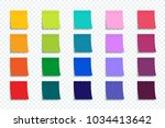 colorful stickers set isolated... | Shutterstock .eps vector #1034413642