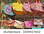 indian bags made of cloth and... | Shutterstock . vector #1034417632