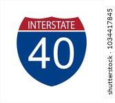 vector illustration interstate... | Shutterstock .eps vector #1034417845