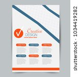 flyer template. design for a... | Shutterstock .eps vector #1034419282