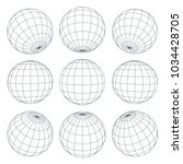 Set Of 3d Spheres Globe Earth...