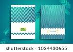 blue geometric flyer  cover...   Shutterstock .eps vector #1034430655