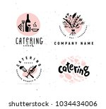 collection of catering and...   Shutterstock . vector #1034434006