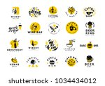 collection of flat food and...   Shutterstock . vector #1034434012